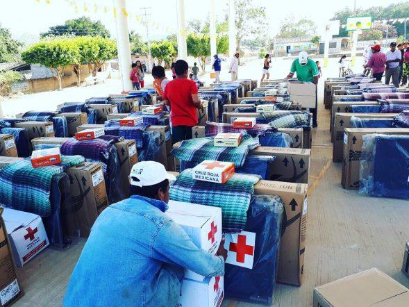 Das mexikanische Rote Kreuz lieferte 4,507 Tonnen an Hilfsmaterial