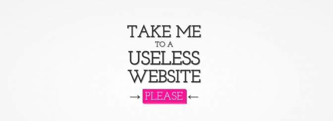 The useless web - im Internet die Zeit vertreiben