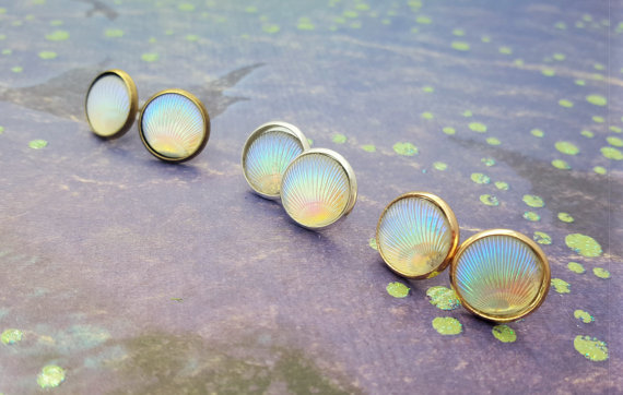 Shell earrings by Fairy Fountain Gifts