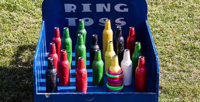 Set your bottles up and play ring toss!