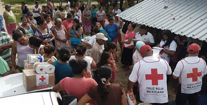 Red Cross helps clean up the effects of earthquakes in Mexico