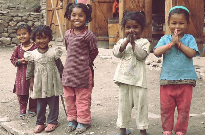 Kinder in Humla, Nepal
