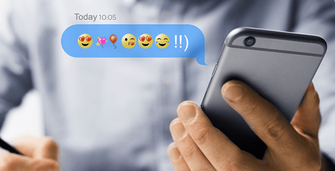Smartphone y mensaje