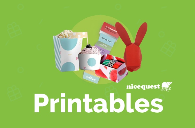 DIY: Nicequest Printables for any occasion