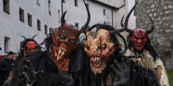 Holiday tradition in Austria: the scaru Krampus