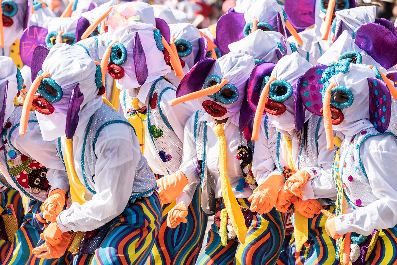 El carnaval de Barranquilla se destaca por sus personajes típicos como la Marimonda