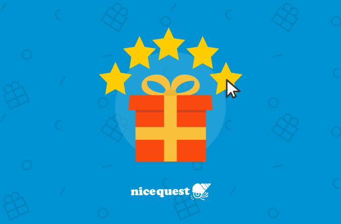 Come recensire il tuo regalo Nicequest