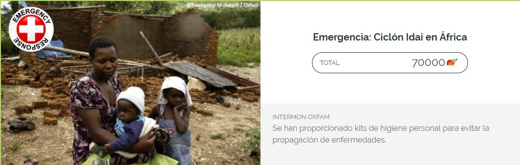 donación ciclón Idai