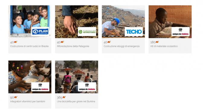 Visita la sezione Donazioni della nostra pagina web per vedere i progetti attivi attualmente.