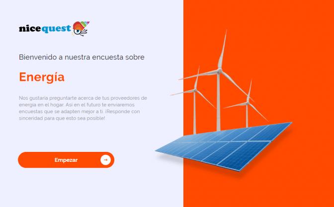 Ejemplo de encuesta sobre energía eléctrica.