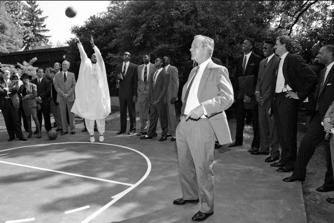 Craig Hodges at the White House